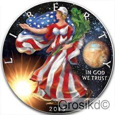2015 SILVER EAGLE SPACE PLUTO 1 Oz .999 SILVER COLOR MINTAGE 100 PCS WITH COA