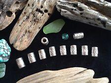 Bracelet Beads 10x Silver 4mm Small Hole Viking Celtic Weave Beard Braid Beads