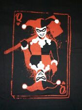 HARLEY QUINN t shirt nera tg. XL DC comics joker harajuku heart Queen of hearts