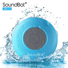 SoundBot SB510 Water Resistant Wireless Bluetooth Shower Bath Speaker Blue