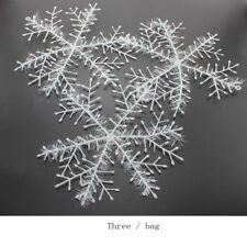 3Pc Winter Chrismas White Snowflakes Hanging Christmas Ornaments Party Decor