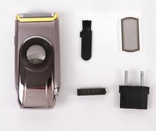 Portable Shaving Machine Braun Mens Shaver Washable Travel Electric Razor Silver