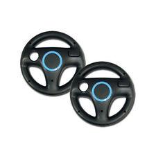 2x Mario Kart Racing Steering Wheel For Wii Games, bulk pack, black 10027