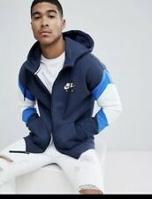 11e9ac91842f13 Nike NSW Air Full Zip Hoodie Obsidian Heather Blue White UK XL (928629-473
