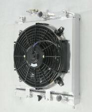 Aluminium Radiator+Shroud Fan For 1992-2000 Honda Civic EK EG/93-97 DEL SOL CRX