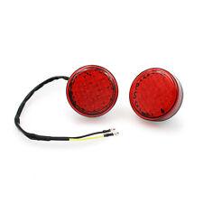 2x Motorcycle Motorbike 12V Turn Signal LED Light Indicators Blinkers Lights Red
