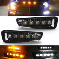 For Ford F-150 Raptor 2017-2019 Bezels L+R LED DRL w/ Turn Signal Fog Light Lamp