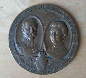 Medaille 28.09.1907 Friedrich II Großherzog und Hilda Großherzogin von Baden 5cm