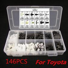 146PC/Set  Fender Door Hood Bumper Trim Clip Body Retainer Assortment For TOYOTA