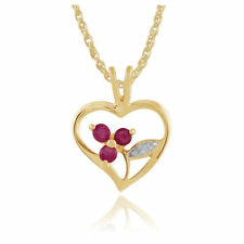 Ruby Not Enhanced Sterling Silver Fine Necklaces & Pendants