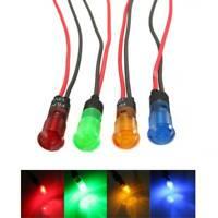 100PCS 8mm Car Van LED Indicator Pilot Dash Dashboard Panel Warning Light Lamp