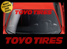TOYO TIRES Windshield STROBE Banner Vinyl Decal Sticker Fits Toyota & Honda