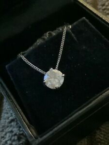 """Beautiful 1.16cts diamond solitaire pendant and chain 18k white gold 18"""""""