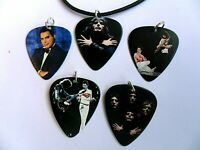 Knights of the Zodiac  Guitar Pick Leather Necklace Five to Choose Saint Seiya