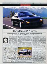 1989 Mazda Rx-7 Rx7 Turbo Original 2-page Advertisement Print Art Car Ad J745