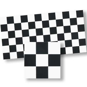 Dollhouse Mosaic Floor Tile Sheet 34125 BlueBlack & White World Model Miniatures