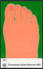 """Tom Wesselmann 1972 Olympic Poster Olympische Speiel Munchen 40"""" X 25"""" Vintage"""