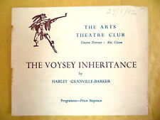 The Arts Theatre Club Programme-THE VOYSEY INHERITANCE by Harley Granville Barke