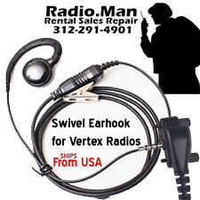Swivel Style Earhook Earhanger PTT for Vertex VX231 VX261 VX354 VX450 EVX Radio