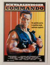 carte postale cinéma film COMMANDO Arnold Schwarzenegger