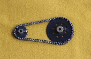 "MECCANO VINTAGE 2"" & 1"" SPROCKET WHEELS & 10.5"" Chain parts."