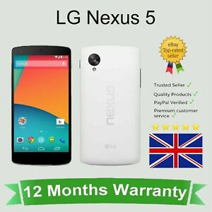 Unlocked LG Google Nexus 5 D821 Android Smart Mobile Phone 16GB White