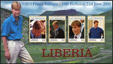 Liberia 2000 Prince William 18th Birthday MNH Sheetlet #D74573
