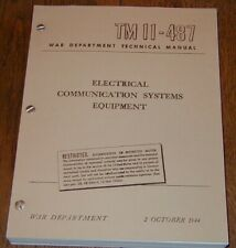 REPRINT TM 11-487, Electrical Communications Systems Equipment OCTOBER 1944