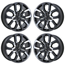 "22"" RANGE ROVER SPORT BLACK CHROME WHEELS RIMS FACTORY OEM 2017 2018 SET 72247"