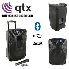 "QTX Busker 10U Portable Active 10"" Bluetooth USB SD PA Speaker System"