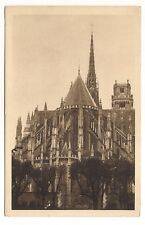 orléans , la cathédrale ste-croix , l'abside vue du jardin de l'ancien évêché