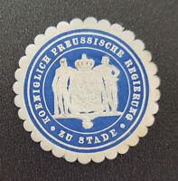 Siegelmarke Vignette Koeniglich Preussische Regierung zu Stade (8061-2)