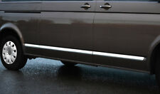 Chrome Side Door Trim Set Covers To Fit LWB Volkswagen T6 Transporter (2016+)