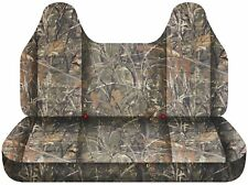 Fits 92-04 ford f150 truck seat covers wetlands camouflage bench w/ molded HR
