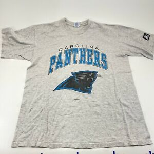 Vintage Carolina Panthers Grey Short Sleeve T Shirt Men's Size Large