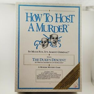 """How To Host A Murder """"The Duke's Descent"""" 1990 Vintage Functionally Complete"""