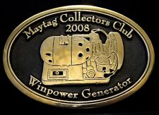 2008 Maytag Collectors Club Winpower Generator Belt Buckle Limited Ed 60/100