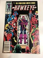 Hawkeye (1983) # 4 Canadian Price Variant (VF/NM) ! He Kicked Shield's Butt !