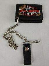 RARE USA Harley Davidson Leather  Biker Chain Wallet