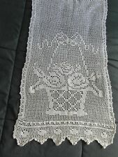 rideau ancien coton CROCHET BLANC40X70CM @curtain old
