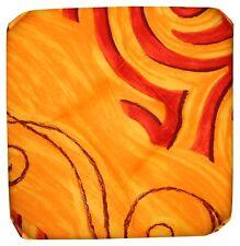 Lot de 6 Galettes Dessus de chaise Imprimées Jaune/Orange