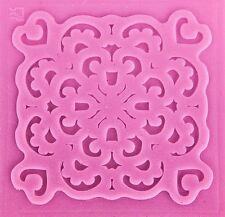 Lace Design with Heart Corners Impression Silicone Mold