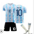 Kids Football Kits Blue Strips Shirt Soccer Jersey 21/22 Home Training Suit yn3