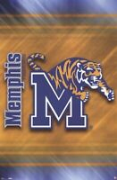 MEMPHIS TIGERS ~ STRIPES LOGO 22x34 POSTER NCAA University College NEW/ROLLED!