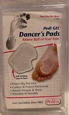 NEW PediFix Pedi Gel Dancers Pads 1 Pair One Size Protect Toe Cushion Sesamoid