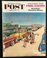 SATURDAY EVENING POST - Aug 1 1959 - FIDEL CASTRO INTERVIEW / Williamson Cover