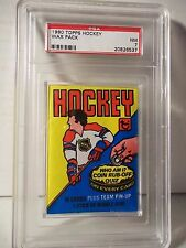 1980-81 Topps Hockey Wax Pack PSA NM 7 Ray Bourgue RC NHL Collectible