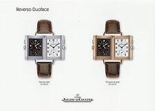 Prospekt Jaeger LeCoultre Reverso Duoface 2004 Uhr Uhren brochure Uhrenprospekt