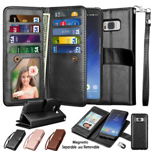For Samsung Galaxy S8 S8 + S8 Plus Leather Wallet Case Card Flip Stand Cover