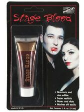 Fake Blood Red Mehron Vampire Dracula Special Effects Halloween Horror Make up